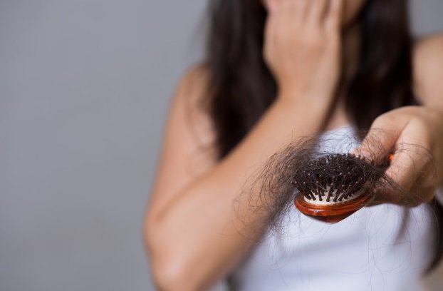 Hair loss on comb
