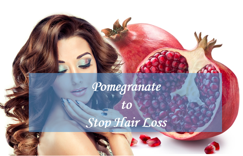 Pomegrate peels hair loss recipe