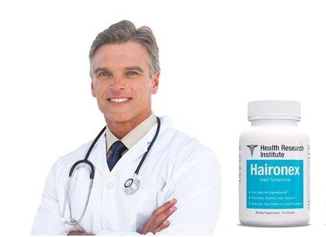 HairoNex Bottle Next to Researcher