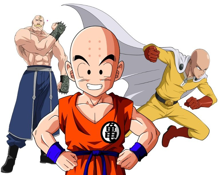 anime characters who have bald heads