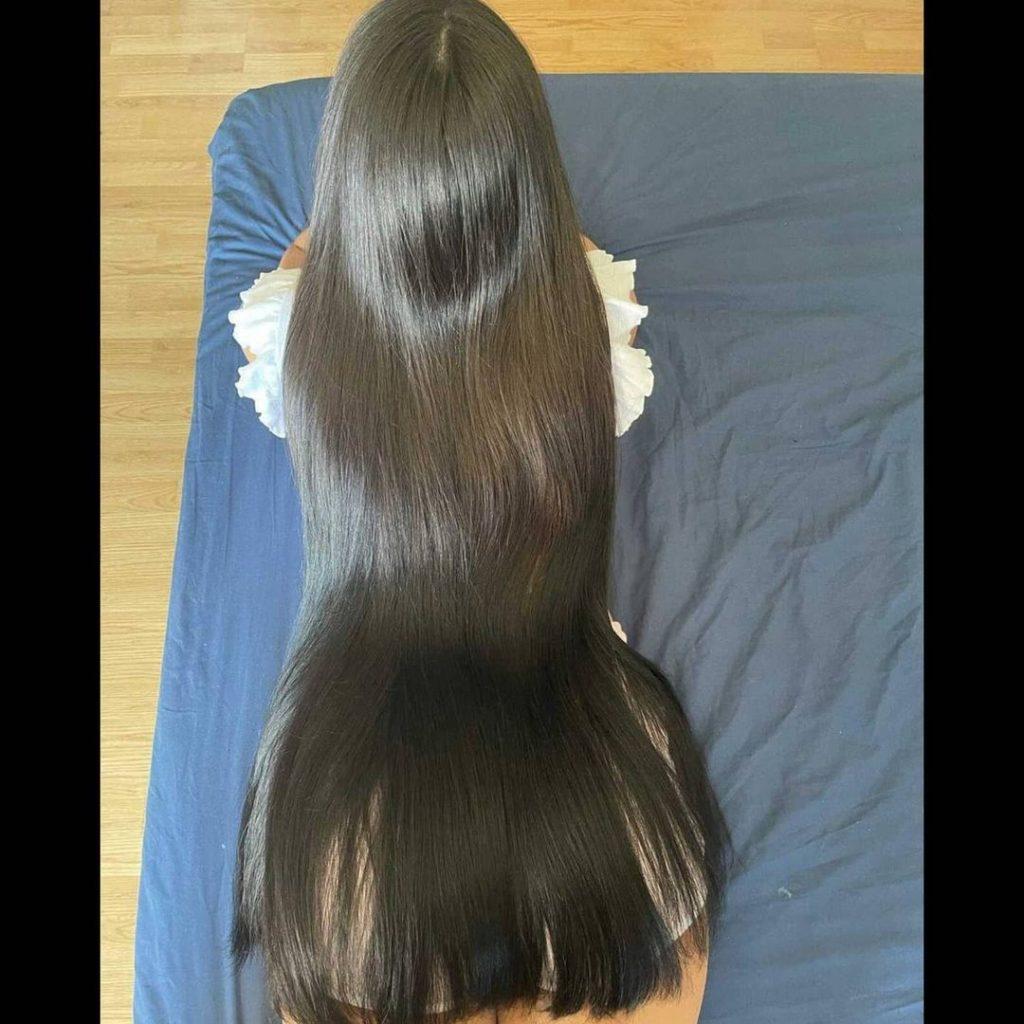 An example of classic hair length